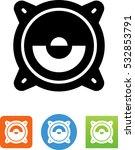 stereo speaker icon | Shutterstock .eps vector #532853791