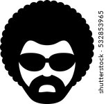 man with afro icon | Shutterstock .eps vector #532853965