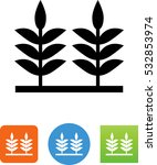 crop field icon | Shutterstock .eps vector #532853974