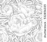 seamless ornament peonies | Shutterstock .eps vector #532856335