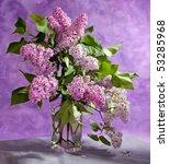 Bouquet Of Spring Purple Lila...