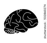 silhouette human brain idea... | Shutterstock .eps vector #532860274