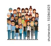 cartoon young people smiling... | Shutterstock .eps vector #532861825