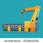 robotic production line... | Shutterstock .eps vector #532862035