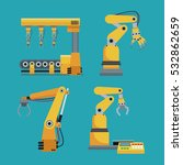 collection automated robotic... | Shutterstock .eps vector #532862659