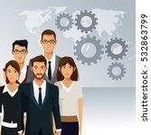 business people teamwork... | Shutterstock .eps vector #532863799