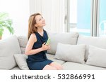 young attractive asian woman to ... | Shutterstock . vector #532866991