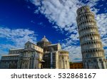 the leaning tower of pisa and... | Shutterstock . vector #532868167