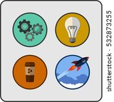 startup background and icon set.... | Shutterstock .eps vector #532873255