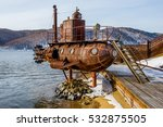 Old Submarine Near Lake