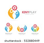 vector button play and people... | Shutterstock .eps vector #532880449