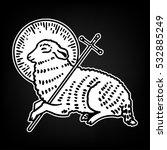 sacrifice lamb of god. sheep... | Shutterstock .eps vector #532885249