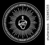 sacred heart of jesus. isolated ... | Shutterstock .eps vector #532885255