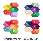 set of geometric abstract...