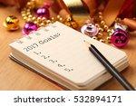 2017 goals list with gold... | Shutterstock . vector #532894171
