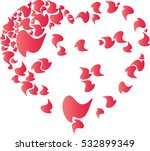 heart isolated white background ...