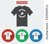 t shirt flat vector icon...