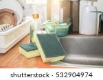 sponge kitchen wash cleaning   Shutterstock . vector #532904974