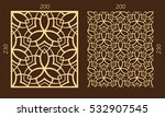 laser cutting set. woodcut... | Shutterstock .eps vector #532907545