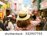 woman tourist is visiting... | Shutterstock . vector #532907755