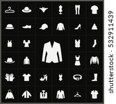 clothes icons universal set for ... | Shutterstock . vector #532911439
