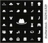hat icon. clothes icons... | Shutterstock . vector #532911529