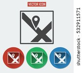 location flat vector icon...