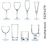 cocktail glass collection  ... | Shutterstock . vector #53291479