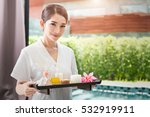 asia portrait of a beautiful... | Shutterstock . vector #532919911