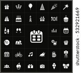 calendar icon. birthday icons... | Shutterstock . vector #532921669