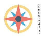 wind rose vector icon | Shutterstock .eps vector #532922515