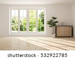 white room with shelf and green ... | Shutterstock . vector #532922785