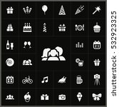 family icon. birthday icons... | Shutterstock . vector #532923325
