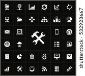 big data  database icons... | Shutterstock . vector #532923667