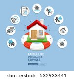 house insurance services. house ... | Shutterstock .eps vector #532933441