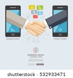 business social connection... | Shutterstock .eps vector #532933471