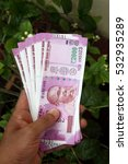 close up of indian 2000 rupee...   Shutterstock . vector #532935289