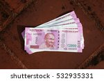 close up of indian 2000 rupee... | Shutterstock . vector #532935331