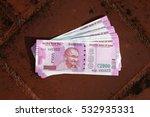 close up of indian 2000 rupee... | Shutterstock . vector #532935331