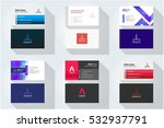 corporate business card set... | Shutterstock .eps vector #532937791