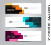 vector design banner background. | Shutterstock .eps vector #532938091
