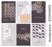 hand drawn collection of 6... | Shutterstock .eps vector #532943005