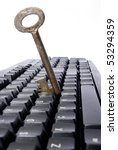 key put in keyboard on white... | Shutterstock . vector #53294359