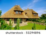 House With Thatched Roof  Sylt