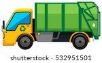 Rubbish Truck On White...