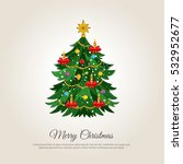 christmas celebrating banner.... | Shutterstock .eps vector #532952677