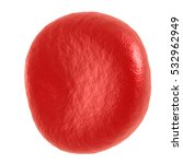red blood cell. 3d render... | Shutterstock . vector #532962949