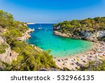 beautiful beach cala llombards... | Shutterstock . vector #532966135