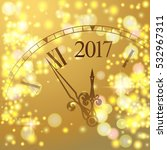 2017 new year gold shining... | Shutterstock .eps vector #532967311
