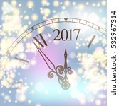 2017 new year colored shining... | Shutterstock .eps vector #532967314